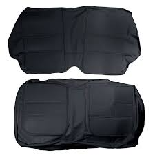67 Mustang Black 65 67 Mustang Coupe Procar Elite Rear Seat Upholstery Black Leather