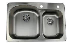 Kitchen Sink Top Stainless Steel Kitchen Sinks Top Mount 16 Stainless Steel