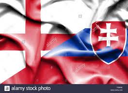 Slovak Flag Waving Flag Of Slovakia And England Stock Photo Royalty Free