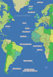 ascension islands map atlantic time zone map
