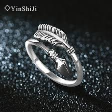vintage sterling rings images Yinshiji 100 925 sterling silver rings for women cupid arrow jpg