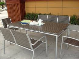 White Patio Dining Table And Chairs Home Design Decorative Modern Outdoor Table And Chairs