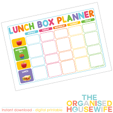 lunch box planner template daily meal plan template roberto mattni co