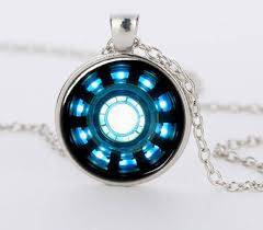 glass necklace images Iron man arc reactor pendant glass necklace pluto99 jpg