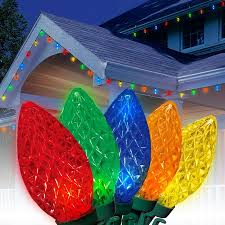 led light for christmas walmart holiday time led c9 christmas light set multi bulbs 100 count