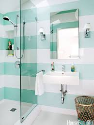Ideas For Tiling Bathrooms Colors 30 Unique Bathroom Ideas To Steal Aqua Striped Bathroom Walls