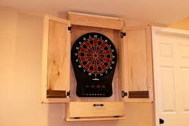 White Dartboard Cabinet Build A Simple Dartboard Cabinet Woodworkers Guild Of America