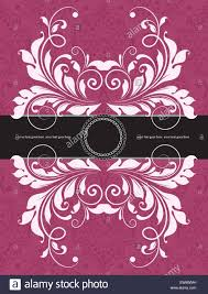 Invitation Card With Photo Vintage Invitation Card With Ornate Elegant Abstract Floral Design