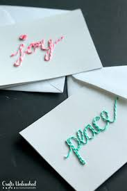homemade christmas cards with twine crafts unelashed