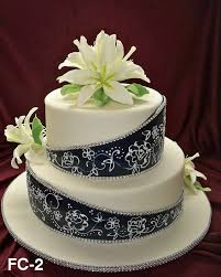 elegant fondant wedding cakes