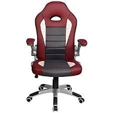 fauteuil de bureau solide langria fauteuil de bureau racing pour gaming faux cuir mécanisme