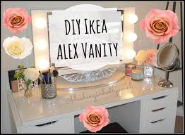 Vanity Table With Lighted Mirror Diy by Diy Ikea Alex Vanity Ikea Alex Vanities And Makeup