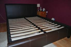 Used King Bed Frame Chocolate Brown Leather King Size Bed Frame No Mattress Item