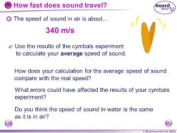 how fast does sound travel in air images Igcse physics waves sound ppt video online download jpg