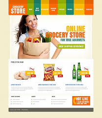 html header design online template 49184 grocery store moto cms html template with colorful