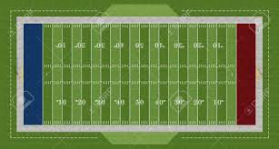 top view of an american football field rendering stock photo