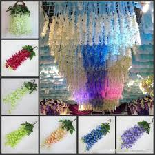 discount romantic wedding decoration garland artificial wisteria