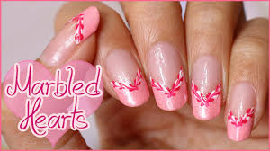 marbled hearts french manicure last minute valentine u0027s day