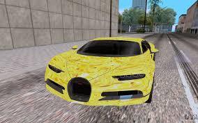 yellow bugatti bugatti chiron for gta san andreas