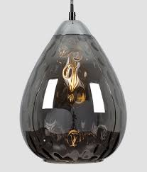 Black Glass Ceiling Light Dimpled Black Glass Chrome Detail Ceiling Light