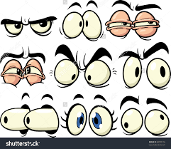funny cartoon eyes all in separate layers for easy editing