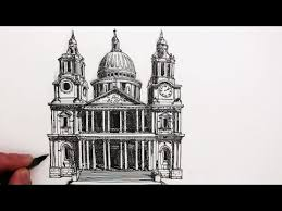 how to draw buildings st paul u0027s cathedral youtube ms art 2
