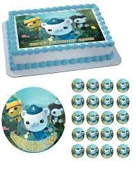 octonauts birthday cake octonauts 1 edible birthday cake or cupcake topper edible prints