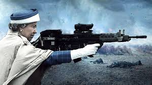 Queen Elizabeth Shooting Psbattle This Photo Of The Queen Firing A Rifle Photoshopbattles