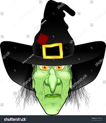 vector cartoon graphic depicting witchs face stock vector 1869814