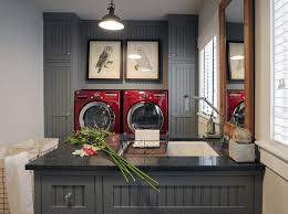 Vintage Laundry Room Decorating Ideas Decorating Modern Laundry Room Decor With White Base Cabinet And
