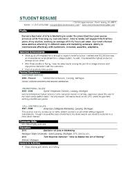 resume template college student simple resume templates college student regarding template for