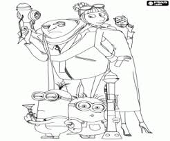 despicable coloring pages printable games