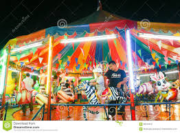 carousel or merry go in thai style editorial photography