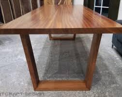 Custom Dining Room Tables - solid sapele dining room table on mid century modern hardwood