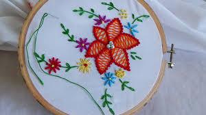 Fish Bone Stitch Embroidery Tutorials Nalinianbarasu39s Embroidery Herringbone Stitch Makaroka