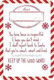 the letter i made when our elf arrived the santa and stuff are
