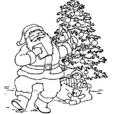 Coloriage Père Noël Sapin en Ligne Gratuit à imprimer