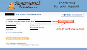 501 C 3 Donation Receipt Donations U2013 The Gift Of Giving U2013 Wat Buddhanusorn