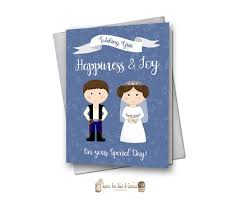 best wishes bridal shower wars wedding card printable han and leia instant