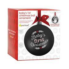 baby u0027s 1st christmas ball ornament u2013 pearhead