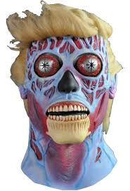 Killer Klowns Outer Space Halloween Costumes Live Halloween Mask Rowdy Roddy Piper Alien Latex Halloween