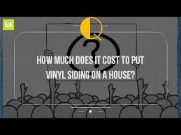 how much does it cost to put vinyl siding on a house