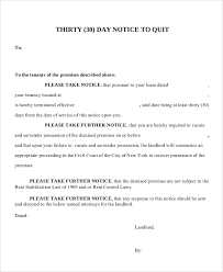 sample 30 day notice letter 9 documents in pdf word
