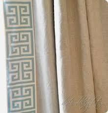 Greek Key Trim Drapes Greek Key Trim On Solid Curtains It U0027s All In The Details