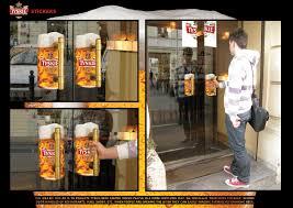 glass door stickers tyskie beer mug stickers