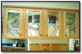 home decoration idea cabinet doors with decorative stained glass