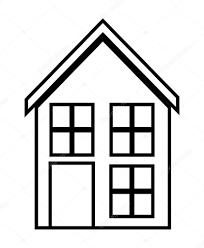 casa disegno casa famiglia casa con porte e finestre disegno della siluetta