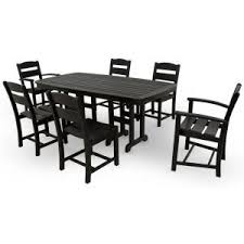 White Patio Dining Set by Ivy Terrace Classics White 7 Piece Patio Dining Set Ivs108 1 Wh