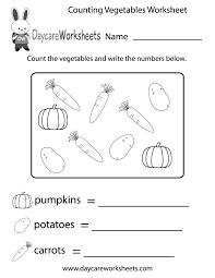 free counting vegetables worksheet for preschool skip worksheets