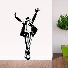 Dance Wall Murals Michael Jackson Decal Living Room Decor Mural Art Vinyl Wallpaper